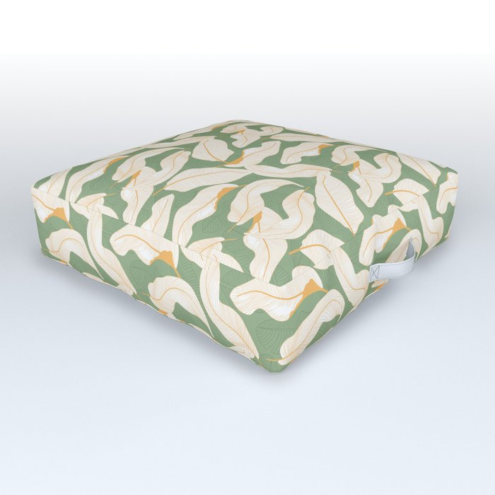 Leaves on Leaves #3 Outdoor Floor Cushion