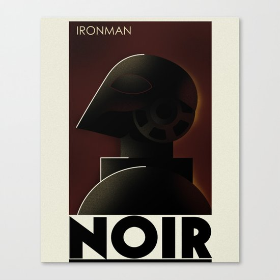 CASSANDRE SPIRIT - Iron Noir Canvas Print
