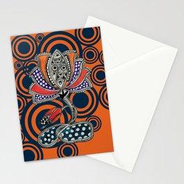 Madhubani - Lotus Fish 1 Stationery Cards