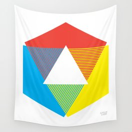 Color Wheel, design by Christy Nyboer Wall Tapestry