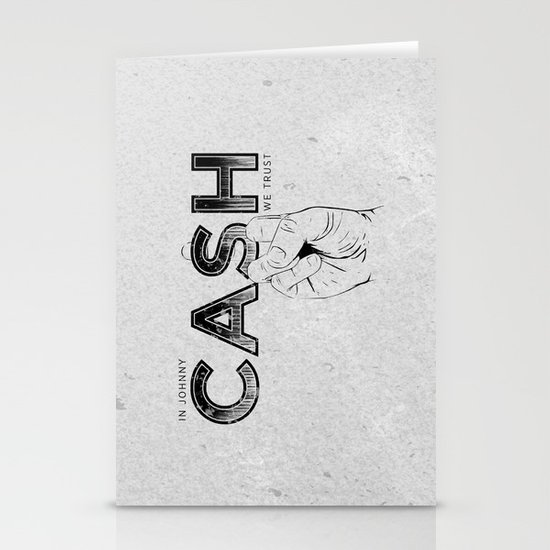 In Johnny Cash We Trust. Stationery Cards