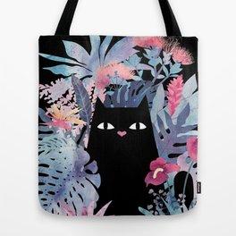 Popoki (Pastel Black Velvet) Tote Bag