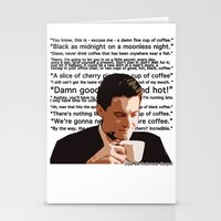 dale cooper Stationery Cards featuring Agent Cooper - coffee quotes  by Alessandro Paradossi