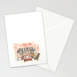 Vintage 90s Living Room Painting Stationery Cards