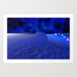 Mission to the Frozen Moon Art Print