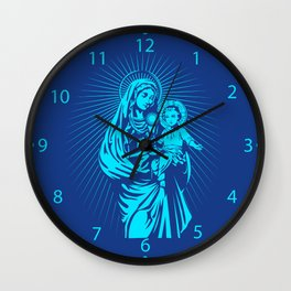 mary mother of god  Wall Clock