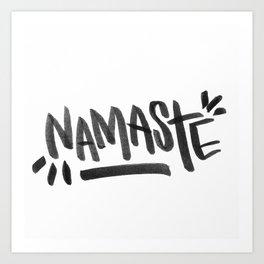 Namaste shanti oom Art Print