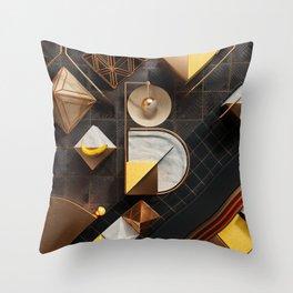 36 Days of Type - B Throw Pillow