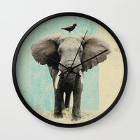 african Wall Clocks featuring friends for life  by Vin Zzep