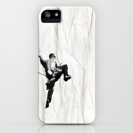 Climbing a Wrinkle iPhone Case