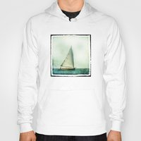 cape cod Hoodies featuring sailing cape cod seas by marie grady palcic