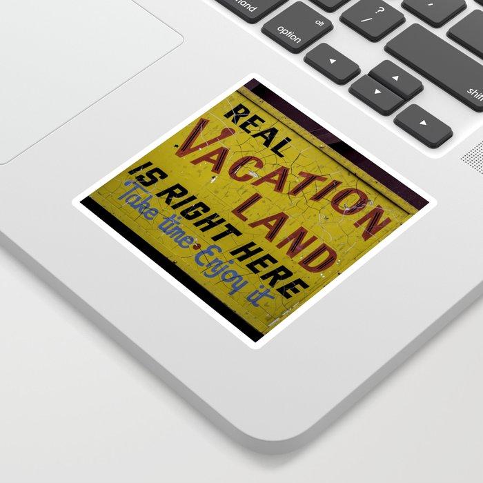 Staycation Sticker