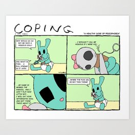 """Coping 27: """"A Healthy Dose of Pediophobia"""" Art Print"""