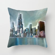 Chicago At Noon Throw Pillow