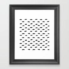 Dash Pattern Framed Art Print