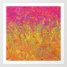 Fluid Colors G262 Art Print