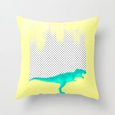 dino got the blues, or not! Throw Pillow