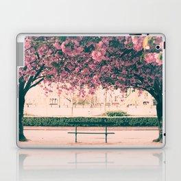 Paris, cherry blossom garden Laptop & iPad Skin