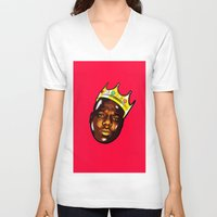 biggie V-neck T-shirts featuring Biggie by Sulaiman aldaham