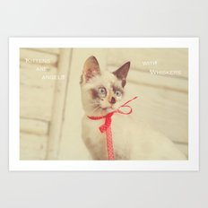 Angels with Whiskers Art Print