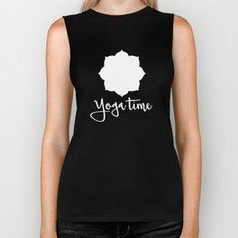 Yoga Time Gift Biker Tank