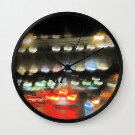 Rome night lights Wall Clock