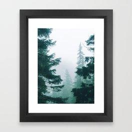 Mount Rainier Fog Framed Art Print