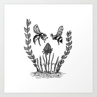 Beeloved Art Print