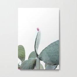Mint Green Cactus Metal Print