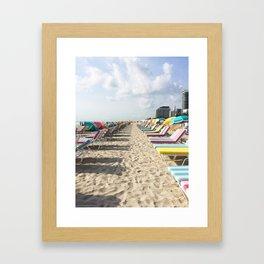 Beach Chairs Framed Art Print