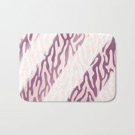 Burgundy pink geometric watercolor animal print Bath Mat