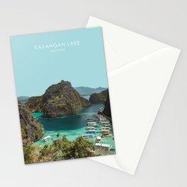 Kayangan Lake, Philippines Travel Artwork Stationery Cards