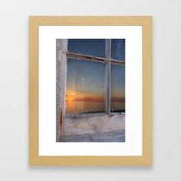 Window Sunset  Framed Art Print