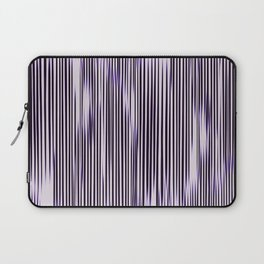 soft monochrome ikat stripe with purple accent Laptop Sleeve