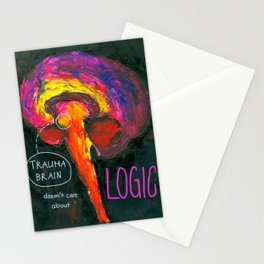 Trauma Brain doesn't care about logic Stationery Cards