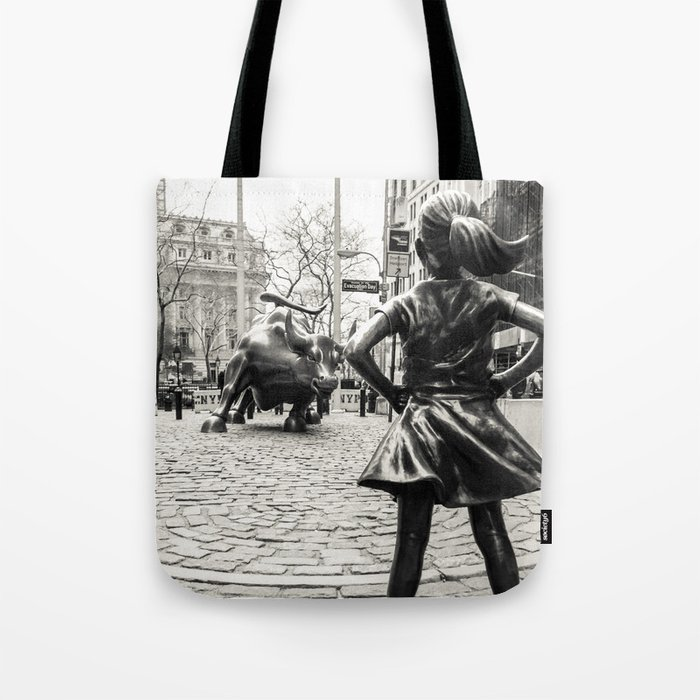 Fearless Girl & Bull - NYC Tote Bag