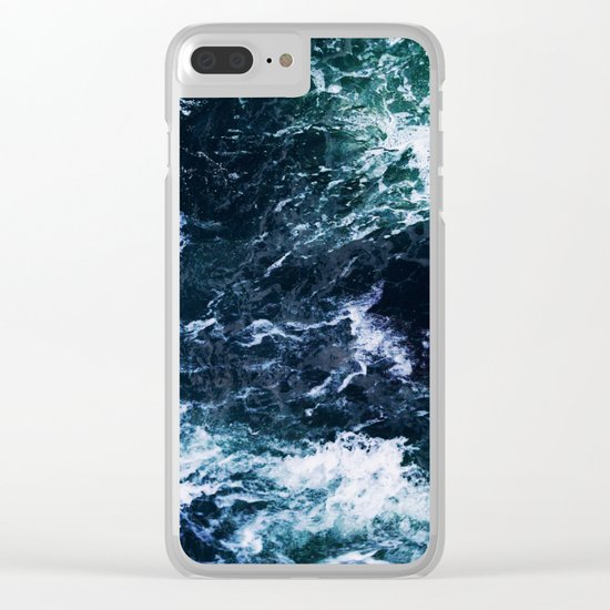 Wild ocean waves Clear iPhone Case
