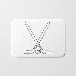 Hockey one line Bath Mat