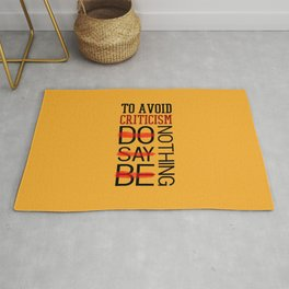 Lab No. 4 Do Say Be Nothing Elbert Hubbard Famous Motivational Quotes Rug