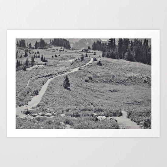 Trail B&W Art Print