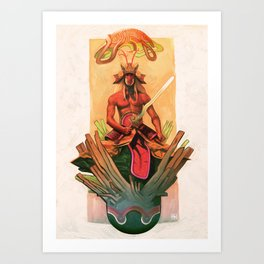 The stone egg & the birth of Sun Wukong Art Print