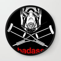video game Wall Clocks featuring Badass - The Video Game by adho1982