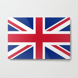 UK FLAG - Union Jack Authentic color and 3:5 scale  Metal Print
