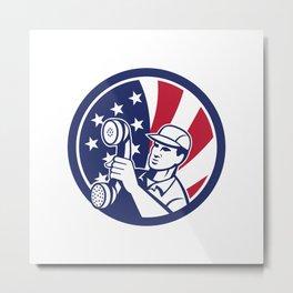 American Telephone Installation Repair Technician Icon Metal Print