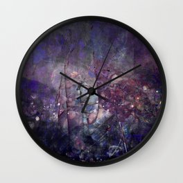 Cracked Purple Geode Texture Wall Clock