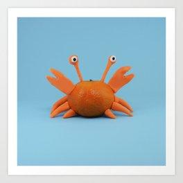 Crab tangerine Art Print