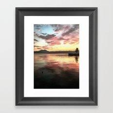 Sunset Reflected On Water Framed Art Print