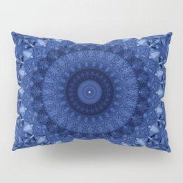 Mandala in deep blue tones Pillow Sham