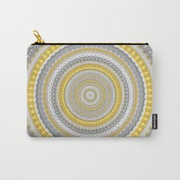 Venetian Inspired Gold Mandala Carry-All Pouch
