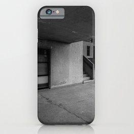 GRAY CONCRETE WALL AND FLOOR iPhone Case